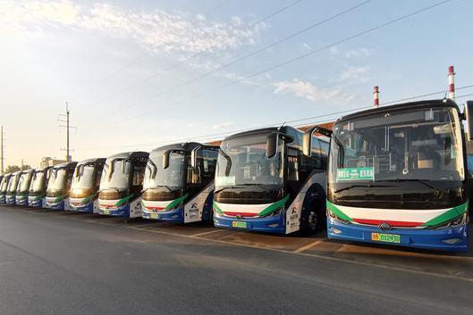 即墨区首条开往胶东机场的公交2707路开始试运行